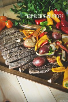 Grilled Steak and Peppers \\ GirlCarnivore.com