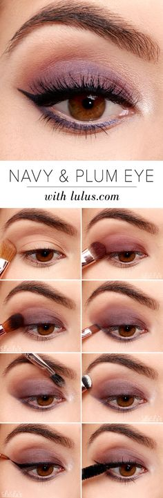 Navy and Plum Smokey Eyeshadow Tutorial   #CutieMakeup #CutieBeauty #EyeShadow