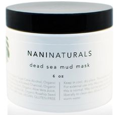 Nalani Dead Sea Mud Mask Facial Treatment, 6 Ounces, Organic, Made in USA Mask For Oily Skin, Dead Sea Mud, Facial Treatment, Facial Masks, Clear Skin, Bath And Body, Alcohol, Organic, Cellulite