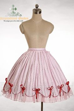 Rakuten: †FanPlusFriend † Gothic Lolita Sweet Country Lolita: 3 Rose Piece Tiered Back Scallop Bottom Skirt - size ~※ order products- Shopping Japanese products from Japan