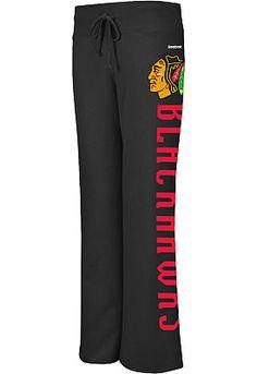 Reebok Chicago Blackhawks Women's Wrapped Fleece Pants - Shop.NHL.com