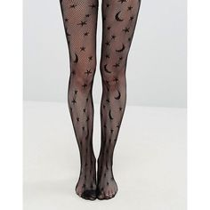 Leg Avenue Halloween Celestial Net Tights (10,675 KRW) ❤ liked on Polyvore featuring intimates, hosiery, tights, black, net tights, star tights, leg avenue pantyhose, star stocking and high rise tights