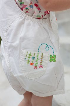 Embroidery | Oilily Spring 2012 Toddler Girls White Embroidered Plum Shortalls