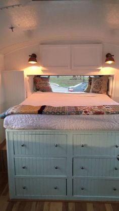 See how a family of 5 turned a bus into a most welcoming home with a lovely kitchen