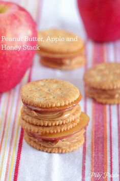 Peanut Butter, Apple, and Honey Stack | Ritz