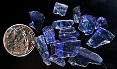 20 carats tanzanite crystals $40 tabular clean crystals from tanzania, africa!!! not many of these left!!!