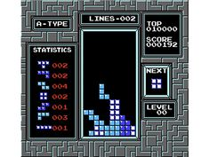 Screenshot from Game Boy version of Tetris - CHM Revolution