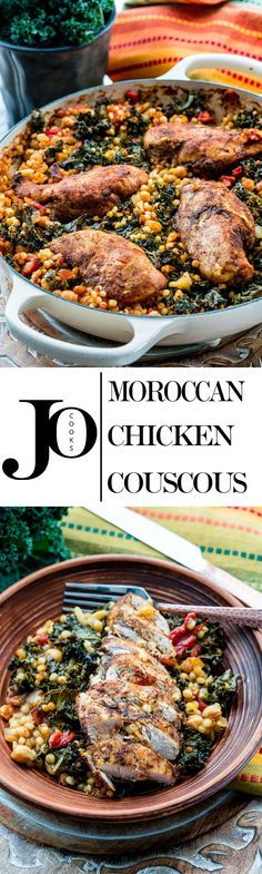 This Moroccan Chicken Couscous is super flavorful and healthy loaded with exotic spices but still simple enough to make any night of the week.