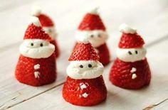 Aardbei kerstmannen van het Aardbeienterras