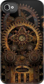 I think I want this one.  Infernal Steampunk Machine #2B iPhone / iPod case by Steve Crompton