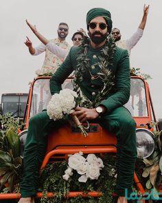 ترفندهای تزیین ماشین عروس: 10 نکته طلایی برای حرفه ای ها - شادیما Indian Wedding Planning, Indian Wedding Outfits, Indian Weddings, Groom Wear, Groom Outfit, Groom Wedding Dress, Wedding Car, Farm Wedding, Wedding Couples