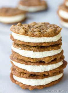 Homemade Oatmeal Cream Pies Recipe | ASpicyPerspective.com