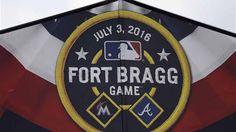 Fort Bragg hosts MLB game #Marlins vs #Braves #FortBraggBaseball #MustWatch