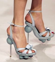 Dior, 2011 - Now I know Dior's designers went to great lengths to design these - um- heels, but, I must pin them on this board!!! LOL