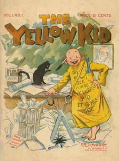 Cover art of The Yellow Kid vol. 1 issue no. 1, published by Howard, Ainslee & Co., United States, 1897, by Richard F. Outcault.