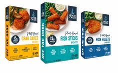 Good Catch debuts new line of breaded plant-based seafood in US - FoodBev Media Fish Burger, Protein Bread, Tuna Melts, Grilled Veggies, Food Packaging Design, Whole Foods Market, Crab Cakes, Plant Based Recipes, Whole Food Recipes