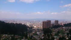 Una vista mañanera de la ciudad capital, muy espectacular... Esta fue en la quebrada las delicias
