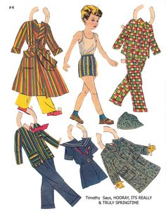 """TIMOTHY Lucy Eleanor Leary's """"BOSTON SUNDAY POST"""" Newspaper Paper Dolls 1940s & 1950s"""
