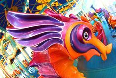 Through a Photographer's Fisheye Lens: Eye-to-Eye with King Triton's Carousel of the Sea at Disney California Adventure park « Disney Parks Blog