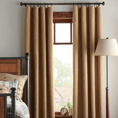 These drapes, available in five colors, block light while looking soft and textured.  - GoodHousekeeping.com