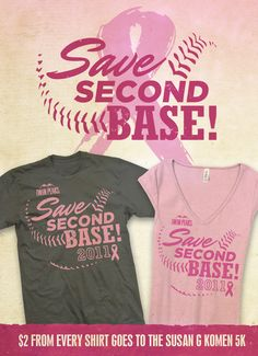 Breast Cancer Awareness - Hah so cute!  These would be cute to wear for my mom's walk this year