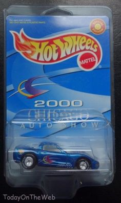 Hot Wheels '97 Corvette 2000 Chicago Auto Show Promo, New in Package #HotWheels