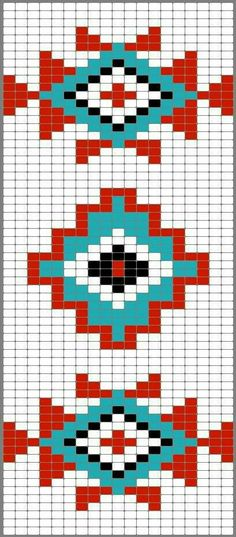 Versatile And Unique Free Crochet Patterns - Hairstyle Tapestry Crochet Patterns, Bead Loom Patterns, Beading Patterns, Cross Stitch Patterns, Motif Navajo, Navajo Pattern, Native Beadwork, Native American Beadwork, Loom Bands