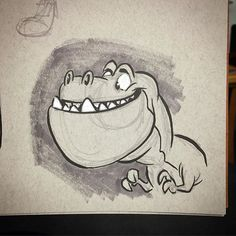 #dinosaurs #cartoon #breaksketch #brushpen #trex #tyrannosaurusrex #animation #characterdesign