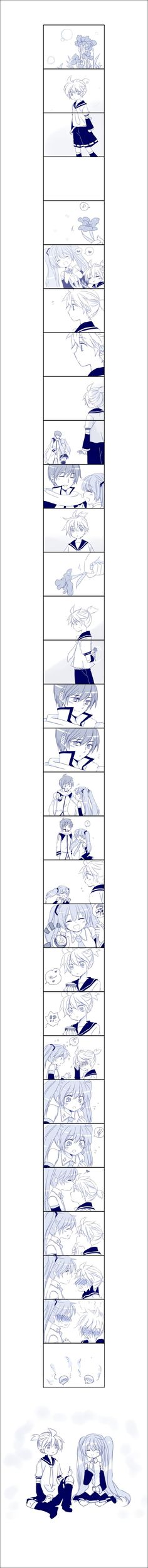 Vokaloid - Len and Miku - Comic