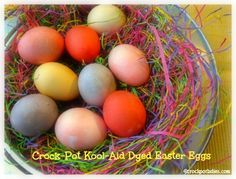 Crock-Pot Kool-Aid Dyed Easter Eggs #crockpotcrazy
