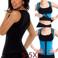 Wish | Plus Size S-5XL New Women Sweat Enhancing Waist Training Corset Waist Trainer Women's Casual Sauna Suit Hot Shaper Sport Vest