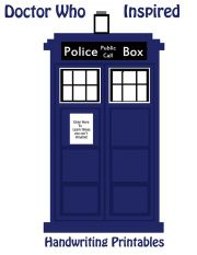 Handwriting | Free Doctor Who Printables | SKGaleana