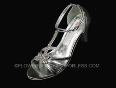 TT_S78 - Flower Girl Shoe Style S78 - Strappy Shoe with Rhinestone Detail - Shoes - Flower Girl Dress For Less