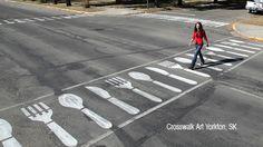 Crosswalk Art in Yorkton, SK