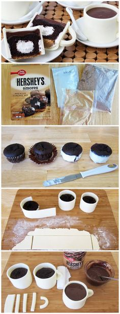 S'mores Coffee Cup Cupcakes, #Coffee, #Cup, #Cupcake, #Cupcakes, #Cups