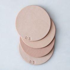Monogram Leather Coasters
