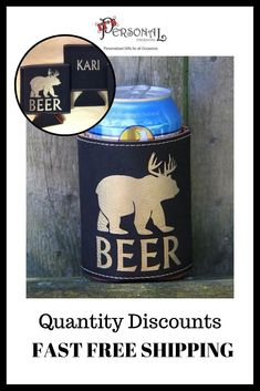 Custom Vegan Leather Beverage Holders make great party favors for birthdays and anniversary celebrations. Design your own or choose one of our designs! FAST FREE SHIPPING on orders over $35. Quantity discounts Available. Shop Now!  #partyfavors #beercoolie #custombeverageholder  beverage holder for party favors, frat party gifts, birthday party favors for guests, 21st birthday, personalized party favors, custom party favors, for beer lovers, party favors for 12, bbq party favors, unique…