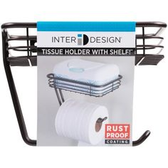 InterDesign Toilet Tissue Holder with Shelf, Wall Mount, Bronze Image 7 of 7 Small Bathroom Storage, Bathroom Organization, Bathroom Ideas, Bathroom Humor, Bathroom Inspo, Basement Bathroom, Master Bathroom, Small Shelves, Easy Wall