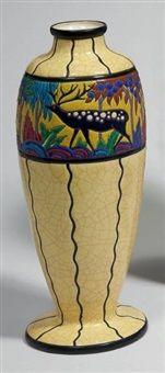 Vase balustre von Longwy