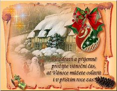 Vánoční přáníčka ke stažení - Ve zdraví... | Vtipnice.eu Advent, Merry Christmas, Santa, Clip Art, Wallpaper, Crafts, Painting, Nostalgia, Merry Little Christmas