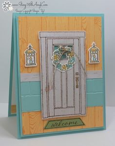 I used the Stampin' Up! At Home With You stamp set bundle to create a fun beach house look card. Linda Richenberg,one of the Inkin' Krew team members, created created a pretty beach ho…