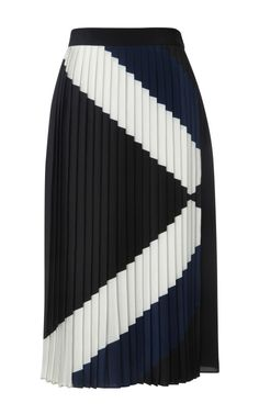 Maritime Border Pleated Skirt by Tibi for Preorder on Moda Operandi