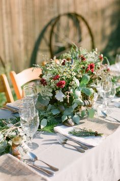 country wedding centerpiece - http://www.bridalguide.com/blog/country-wedding-ideas BLUEBIRD PRODUCTIONS