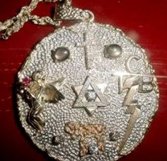 Elvis' Kabbala Pendant. I think Elvis covered all bases when it came to religion although he thought Scientology to be a crock and only after money