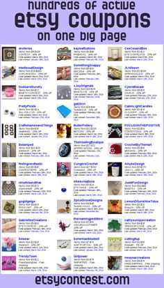 The etsycontest coupon page has tons of etsy coupons for handmade goodies - you can add your own if you've got a shop too!