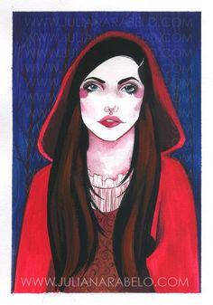juliana rabelo | illustration: Illustration friday: red