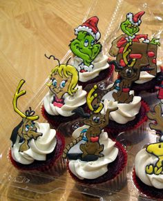 The Grinch Who Stole Christmas cupcakes