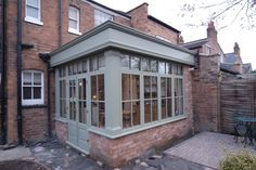 Image 89 - This Hardwood Orangery made a great extension to the house by adding a new dining area to new kitchen design Orangery Extension Kitchen, Orangerie Extension, Kitchen Orangery, Orangery Conservatory, Small Conservatory, Conservatory Extension, Cottage Extension, House Extension Design, House Design
