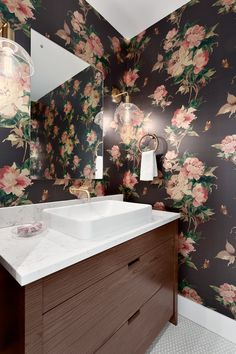 Powder room by Madeleine Design Group in Vancouver, BC. *Re-pin to your inspiration board*