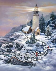 Aitmexcn DIY Diamond Painting Kits Full Drill, Rhinestone Crystal Embroidery Pictures Cross Stitch for Home Wall Decoration Eagle 30 x 40 cm x Christmas Scenes, Christmas Art, China Painting, Diy Painting, Pictures To Paint, Art Pictures, Lighthouse Painting, Winter Painting, Thomas Kinkade